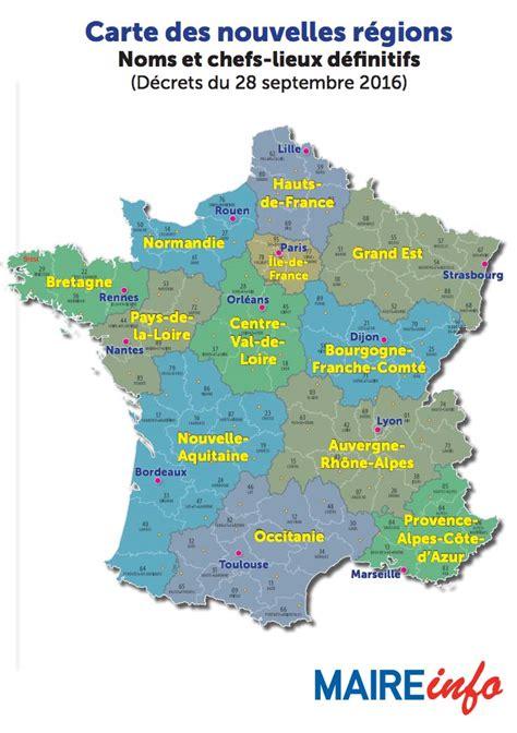 Carte Nouveau Monde Conseil Régional Auvergne by Collectivit 233 S Locales Les Noms Et Capitales Des Nouvelles
