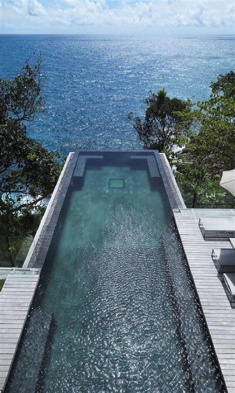 awesome infinity edge swimming pool favethingcom