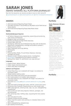 Journalist Resume Sle by Cv Sle Writing Your Curriculum Vitae Resume