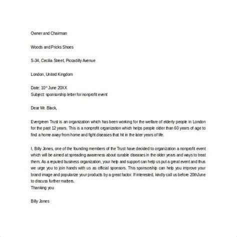 sle sponsorship letter appreciation letter sponsorship sle 28 images