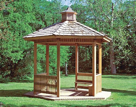 Wood Single Roof Orchard (hexagon) Pavilions
