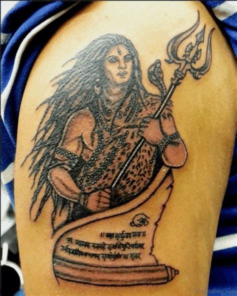 nice shiva tattoos  shoulder