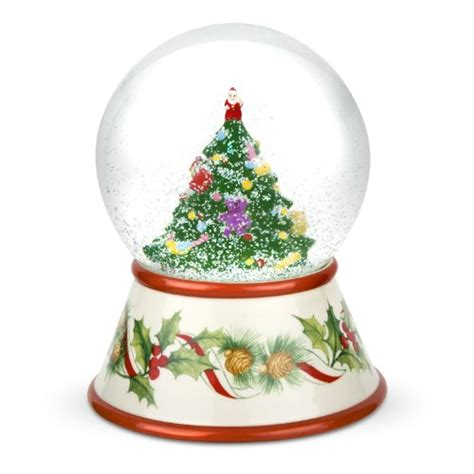 snow globes spode christmas tree 2010 musical snow globe