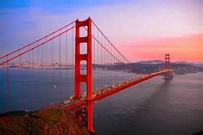 Golden Francisco San Gate Bridge Desktop Pc