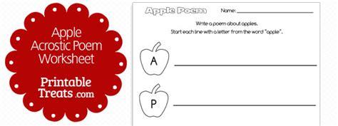 printable apple acrostic poem printable treatscom