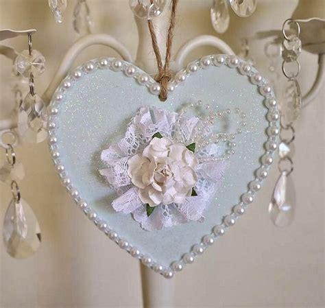 shabby chic wooden hearts shabby chic decorated wooden heart door hanger http myshabbychicdecor com shabby chic