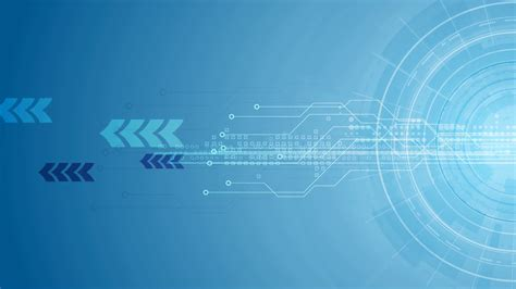 Animated Technology Wallpaper - blue gear circuit board and arrows tech background