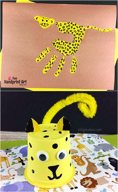 handprint cheetah craft  kids cheetah crafts crafts