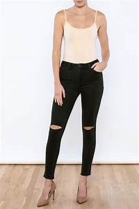 Just black Knee Slit Jeans from New Jersey by Mint Market u2014 Shoptiques