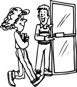 Man Holding Door Open