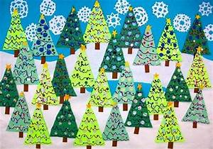 Winter Christmas Tree Bulletin Board Decoration