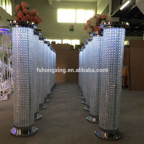 sale pillar with led light wedding stage