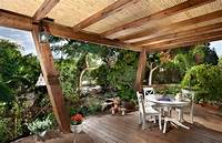 great tropical patio design ideas Ceiling fans for porches, rustic front entry with wood ...