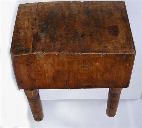 An Early 20th Century Maple Butcher Block On Four Turned