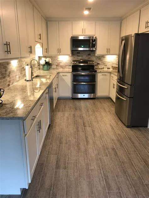 wood look tile kitchen kitchen floor tile planks morespoons 2f683aa18d65 1599