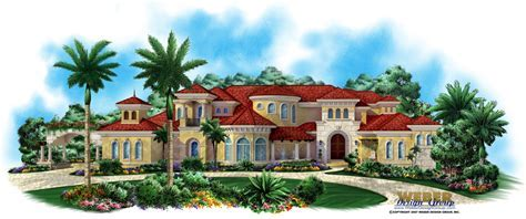 Mediterranean House Design   Villagio Toscana House Plan