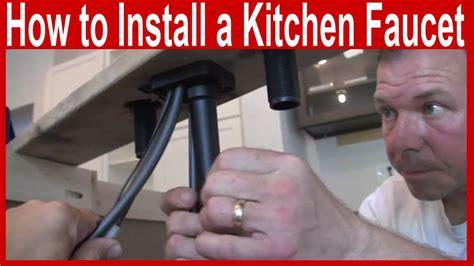 install  kitchen faucet delta ashton toucho