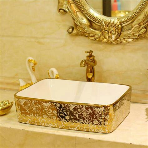 gold bathroom sink decorative bathroom sinks free shipping and save the tax 12987