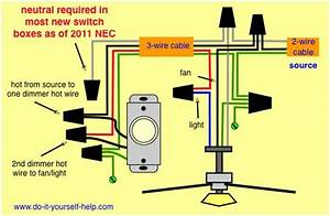 Wiring Diagram  Dimmer And Fan  Light Kit