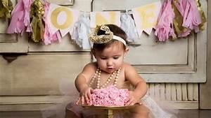 FIRST BIRTHDAY PHOTOSHOOT (ft Smash Cake) - YouTube
