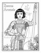 Joan Arc Coloring Lynch Albert Becky Catholic Santa Pdf Drawing Saint Printable Jeanne Template Joana Wwe Sketch Banks Sasha Science sketch template