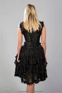 Kleid Mit Tattoo Spitze : sophia korsett kleid mit spitze gothic kleider ~ Frokenaadalensverden.com Haus und Dekorationen