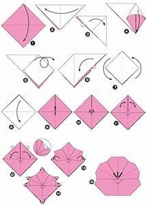 Origami Fleur Coeur D étoile : diagramme d 39 origami de prunus tape 1 orgamis origami ~ Melissatoandfro.com Idées de Décoration