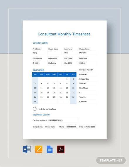 sample hourly timesheet template word  excel