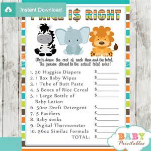 Printable Baby Shower Bingo Picture