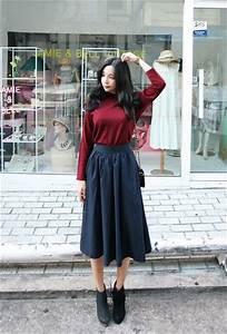 Shunichell Long Skirt | Korean Fashion | STYLE | CLOTHES | Pinterest | Korean fashion Korean ...