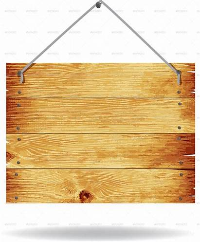 Wood Sign Transparent Wooden Background Vector Clip