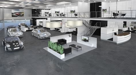 the store designers porsche showroom by the store designers retail design
