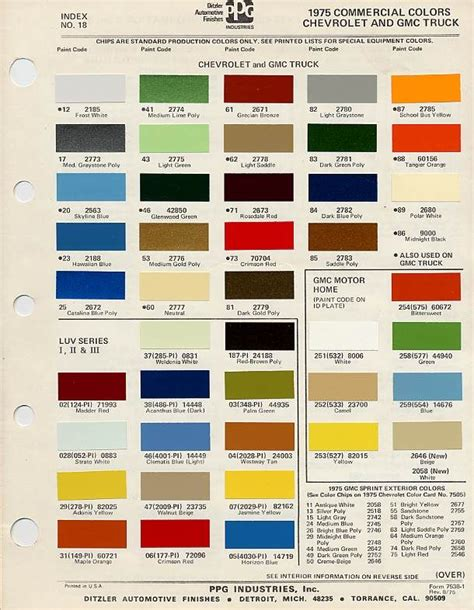 1975 c10 stock colors google search 1975 chevrolet c10