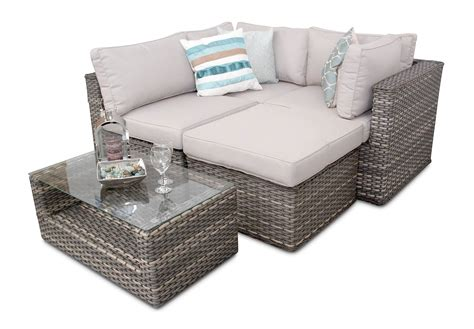 Manchester Rattan Modular Corner Garden 5pc Sofa Set