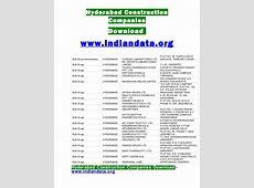 Hyderabad construction companies list