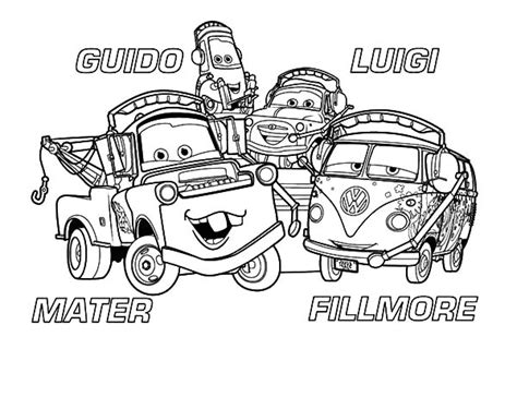 mater coloring pages disney cars character tow mater coloring pages disney