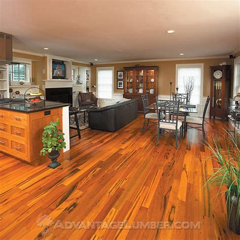 Koa Flooring With Cherry Cabinets by Tigerwood Flooring