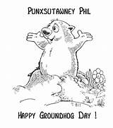 Groundhog Coloring Phil Pages Sheets Punxsutawney Happy Activity Ground Hog February Preschool Groundhogs Activities Clipart Sheet Printable Crafts Holiday Simple sketch template