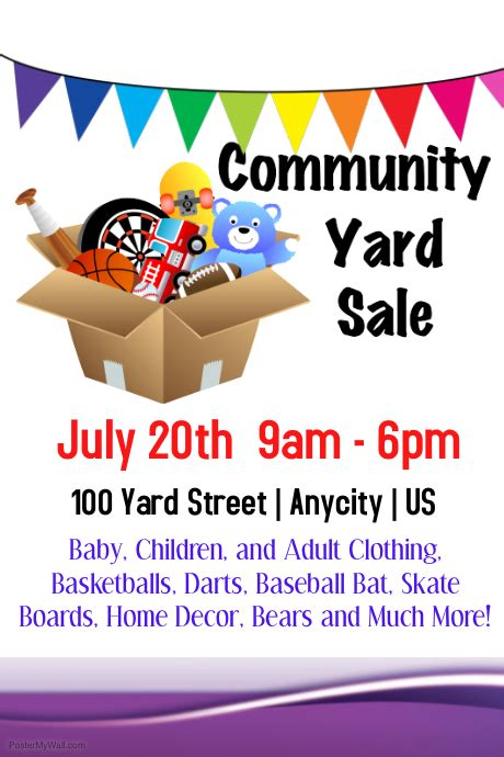 Garage Sale Flyer Template Word by Community Yes Sale Template Postermywall