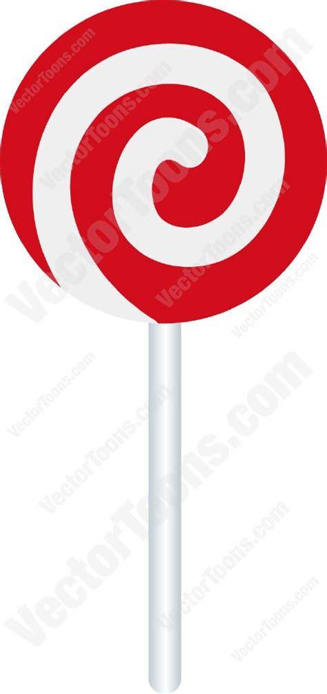 red  white swirled lollipop vector graphics