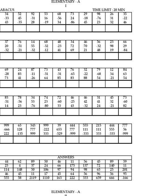abacus math worksheets math worksheets