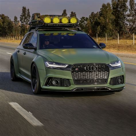 Maybe you would like to learn more about one of these? Army Green Wide-Body Audi RS6 Avant Is Ready For The ...