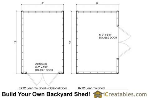 Shed Plans 8x12 Lean To by 8x12 Lean To Shed Plans Storage Shed Plans Icreatables
