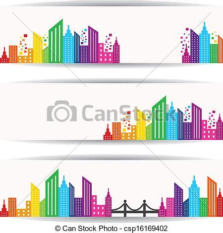 vector clipart of abstract colorful building design for