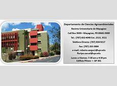 Página Inicial Departamento de Ciencias Agroambientales