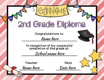 editable  grade graduation diplomas  pooky pandas tpt