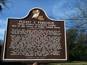 """1896, ruled in plessy v ferguson, forging """"separate but ..."""