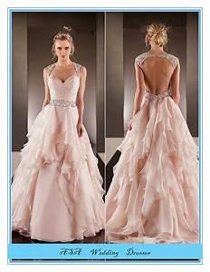 fashion plus size hot sexy light pink chiffon wedding With plus size pink wedding dresses