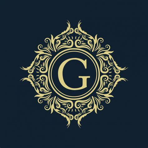 gold luxury vintage monogram floral decorative logo  letter design template premium vector