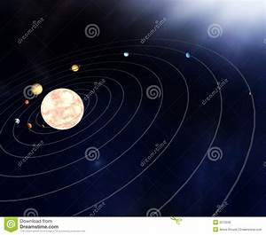 Diagram Of The Planets In The Stock Illustration